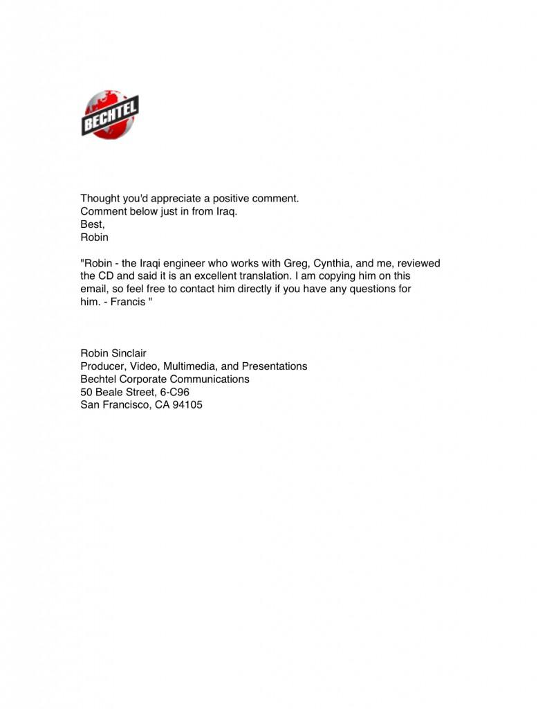 09-Bechtel-Email form Robin Sinclair